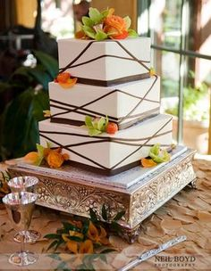 Autumn wedding cake.