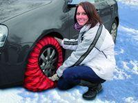 Tekstylne łańcuchy śniegowe na koła do samochodów osobowych hiszpańskiej firmy Isse.
