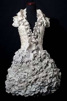 Book art dress by Carrie Ann Schumacher
