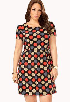 Groovy Polka Dot Dress | FOREVER21 PLUS - 2031558099