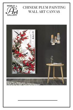 Bring your interior space to a new level with this Chinese Style Simple Plum Painting wall art canvas. This wall art canvas will surely draw attention from your guests. We print all of our images on high-quality cotton canvas that is resistant to tears and will not fade or run or bend like paper. They contain no hazardous chemicals or materials and can be used in children's rooms or bedrooms. Asian Wall Art, Us Images, Chinese Style, Cotton Canvas, Plum, Canvas Wall Art, Oriental, Bedrooms, Draw