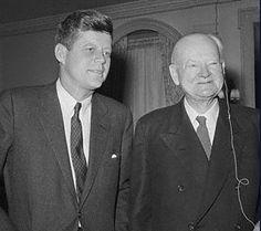 President John F. Kennedy and former President Herbert Hoover.