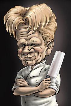 Gordon Ramsey caricature