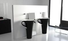 Designers Meneghello Paolelli Associati have designed the Cup washbasin for ArtCeram.