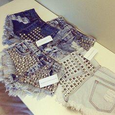 Studded Shorts #Lockerz
