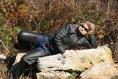 IMG#5632-Geri takes a break...Pennsylvania Oct 10, 2010. Enjoying the Fall...