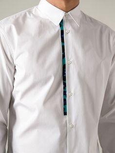 DSQUARED2 Mens Leopard/Floral-Placket Long-Sleeve Shirt #Dsquared2