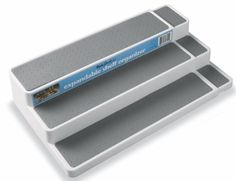 InterDesign Linus Expandable Kitchen Drawer Organizer for Silverware Spatulas Gadgets  16 x 12 x 3 Clear ** Be sure to check out this awesome product.