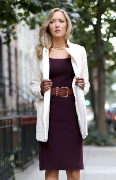 Throw on a cardigan to stay warm for a fall interview.
