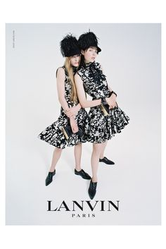 Edie Campbell & Her Family Front Lanvins Fall 2014 Campaign