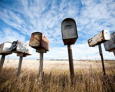 I found these mailboxes near Viking, AB as I spent a quiet Sunday afternoon driving through the country. This is a print. This photograph is printed on premium-quality Kodak Supra Endura paper in a luster finish.