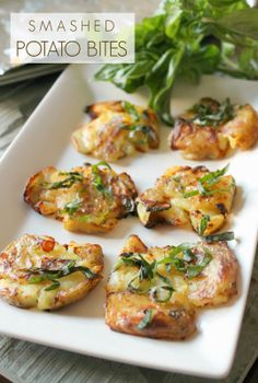 smashed potato bites
