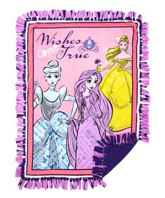 Love this Disney Princess No Sew Fleece Throw Kit on #zulily! #zulilyfinds