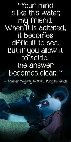 Master Oogway to Master Shifu Cartoon Quotes, Movie Quotes, Life Quotes, Kung Fu Panda Quotes, Kung Fu Panda 3, Dreamworks, Master Oogway, Master Shifu, Disney Quotes