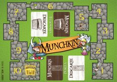Munchkin Quest Mat Concept | Great Games | Pinterest | Gaming and ...