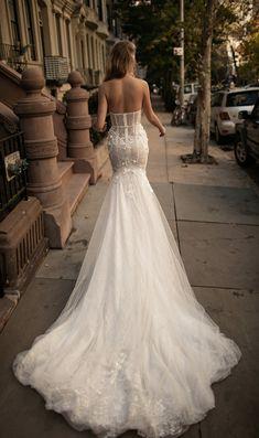 strapless luxury wedding gown