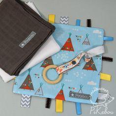 "baby box ""petit indien"" - cadeau de naissance - Pikebou EN SOLDE :-) Diaper Bag, Baby Boy, Diy, Bags, Wooden Rings, Handbags, Bricolage, Diaper Bags, Taschen"