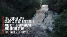 New Lanark and the Falls of Clyde - 4K Drone Footage - YouTube