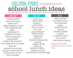 Gluten Free School Lunch Ideas | simplykierste.com