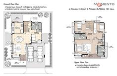 Review: This house plan has 4 bedrooms, 3 bathrooms, 2 car parks, 183 sq.m. of usable area - MyhomeMyzone.com