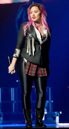 Demi Lovato at her Neon Lights Concert Tour in Anaheim, CA, on February 13, 2014