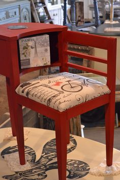 Gossip bench, in annie Sloan chalk paint, emperors silk. Perfect color for my own phone bench.