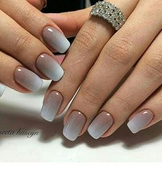 Natural ombre nails gel | Inspiring Ladies