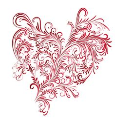 Floral heart vector 324634 - by SvetaP on VectorStock®