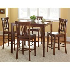 Greyson Living Ridgeway Brown Finish 5-piece Counter-height Dining Set by