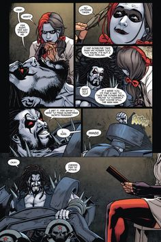 Harley Quinn Forces Lobo Into Therapy 4  http://comicnewbies.com/2015/03/30/harley-quinn-forces-lobo-into-therapy/