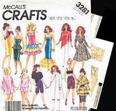E PATTERN  Barbie Vintage Wardrobe Sewing by dollpatternboutique, $4.20