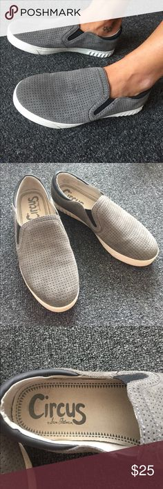Circus by Sam Edelman Slip on Sneakers 8 Leather sneakers- very lightly worn! Excellent condition ❤ Circus by Sam Edelman Shoes Sneakers