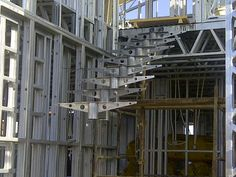 Steel Frame House - Staircase going in. (10/09/12)