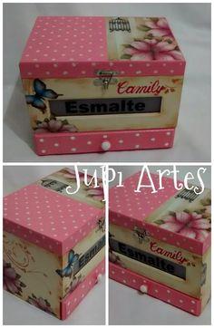 Jupi Artes: Caixa Porta Esmaltes: