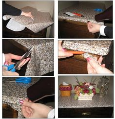 Apartment furniture cheap contact paper 49 Ideas for 2019 Faux Granite, Cheap Bathroom Makeover, Diy Furniture Cheap, Furniture Ideas, Furniture Makeover, Laminate Counter, Kitchen Laminate, Cheap Countertops, Contact Paper