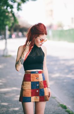 Le Happy - Patchwork skirt from ASOS