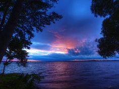 West Lake view - near Sandbanks, Ontario, Canada - summer 2014 Beautiful World, Beautiful Places, Wonderful Places, Fear Of The Unknown, Scenery Pictures, Pretty Photos, Sunset Sky, West Lake, Sky And Clouds
