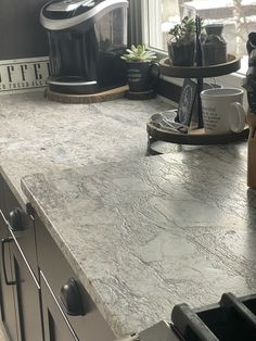 Blue dunes granite in leathered finish Countertop Redo, Outdoor Kitchen Countertops, Grey Kitchen Cabinets, Kitchen Walls, Granite Flooring, Stone Countertops, Leather Granite, Barn Kitchen, Cherry Kitchen