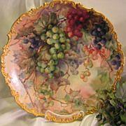 SOLD Breathtaking Antique Limoges France Hand Painted Still Life Masterpiece Luscious Grapes 1