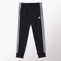 Slim 3-Stripes Sweat Pants - Black