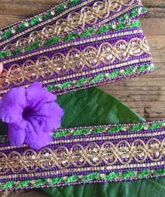 Green, Purple and Gold Trim trim, ribbon, craft projects, sewing projects, hobbies