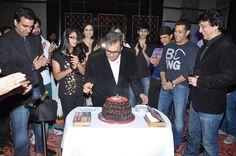 Subhash Ghai Cutting the cake