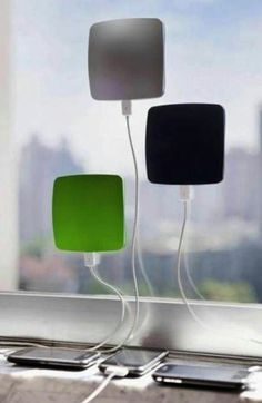 Window solar cell charger?! Yes please!