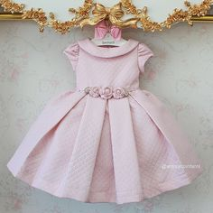 Frocks For Girls, Girls Party Dress, Little Dresses, Little Girl Dresses, Flower Girl Dresses, Baby Girl Fashion, Kids Fashion, Kids Party Wear, Girls Special Occasion Dresses