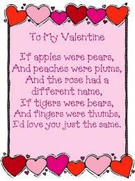 Image result for short valentines poems for kids