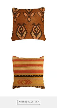 15% Off Accessories until Mother's Day! | Vintage Kilim Pillows in Brown & Pink | Floorplan Rugs - created via http://pinthemall.net