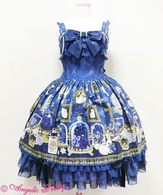 Angelic Pretty - Mercator Antique Shop Long JSK in Navy