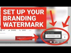 Set Up Your Branding Watermark Youtube Hacks, You Youtube, Technical Video, Social Media Channels, Level Up, You Videos, The Creator, Encouragement, Told You So