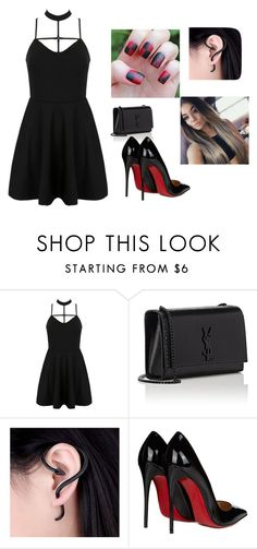 """""""Untitled #59"""" by autumn-geist on Polyvore featuring WithChic, Yves Saint Laurent and Christian Louboutin"""