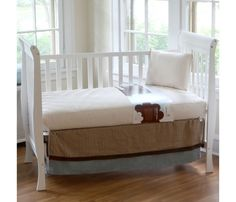 ORGANIC BABY MATTRESS - ULTRA SEAMLESS 252 COILS FOR TOP SAFETY AND SUPPORT - Bluebird Baby Organics